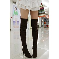 Slim Elastic High Heels Thigh High Boots Stiletto Heel 9441