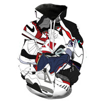 Jordan Shoes Collage Hoodie