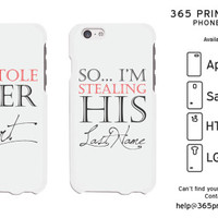 Stealing Last Name Romantic Matching White Phone Cases - 365 Printing Inc