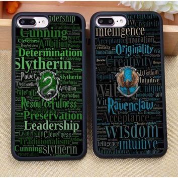 Cool Harry Potter Hogwarts Logo Soft Rubber Mobile Phone Cases For Coque iPhone 7 7 Plus 6 6S Plus 5 5S 5C SE 4S Cover Shell