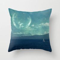 Earthrise Throw Pillow by SensualPatterns