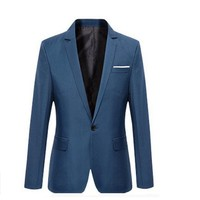 European and American Business men's suits Korean version of the casual student suit British style fashion personality Slim suit