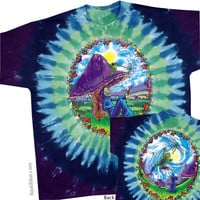Mushroom Haven Tie Dye T Shirt on Sale for $24.95 at HippieShop.com