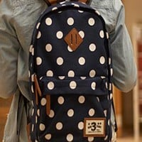 Fashion Leisure Dot Canvas Backpack&bag from styleonline