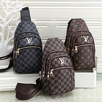 Louis Vuitton LV Hot Sale Classic Zipper Waist Bag Mobile Phone Bag Casual Fashion Men's and Women's Shoulder Messenger Bags