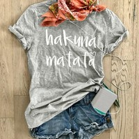 Women T-shirts Summer Short Sleeves Letters Printed O-Neck Casual Loose Simple Solid Tee Tees T-shirt Female Tops Harajuku Bts