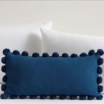 Pom Pom Organic Pillow Cover