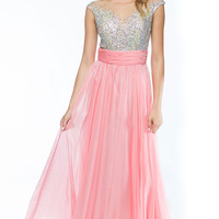 KC14103 Jeweled Chiffon Evening Gown by Kari Chang Couture