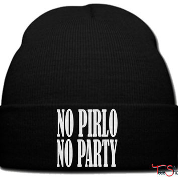 NO PIRLO NO PARTY_PXF beanie knit hat