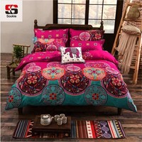 Sookie Full/Queen/King Size Bedding Sets Bohemian Style Reversible 4Pcs Duvet Cover Sets Pillowcase