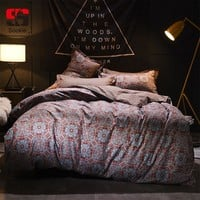 Sookie European Vintage Style Bedding Set Mandala Print Bed Linen Twin Full Queen King Size Bedclothes 3pcs Duvet Cover Sets