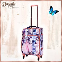 Blossomz Carry on Luggage With Spinner Wheels