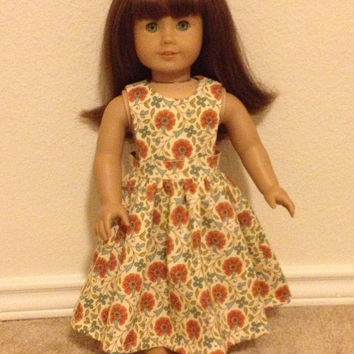 Summertime Country Sun Dress: fits most 18 in dolls
