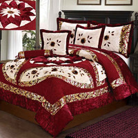 Tache 4 PC Red North Star Comforter Set, Twin