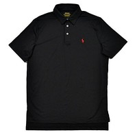 Polo Ralph Lauren Mens Performance Interlock Polo Shirt (Polo Black)