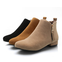 Womens Fashionable City Zip Boots