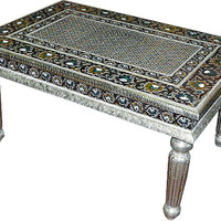 Antique udaipur white metal meenakari Hand crafted indianCoffee Table