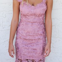 St. Barts Island Dusty Pink Double Strap Dress