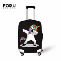 Unicorn Luggage Protective Covers Travel Accessories 3D Flamingo Printed Suitcase Cover maletas de unicornio