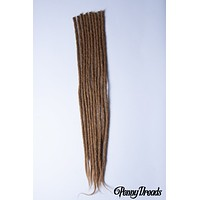 "Light Brown-100% Human Hair Dreadlocks Crochet Extension - 24"" (10 Pieces)"