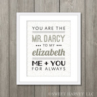 Famous Couple Poster Mr Darcy and Elizabeth Jane by sweetharvey