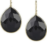 Ippolita | 18-karat gold onyx drop earrings | NET-A-PORTER.COM