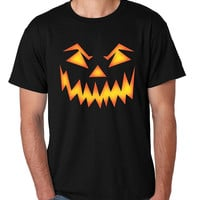 Men's T Shirt Angry Pumpkin Face Cool Halloween Costume Tee
