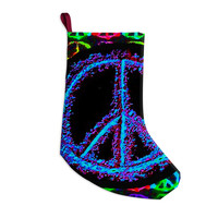 "Anne LaBrie ""Heavenly Peace"" Blue Digital Christmas Stocking"