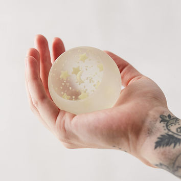 Glass Star Glow-In-The-Dark Orb | Urban Outfitters