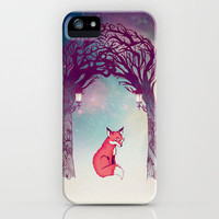 Fox in the Forest iPhone Case by nellfoxface | Society6