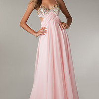 Long Prom Dress with Cut Out Sides by Flirt