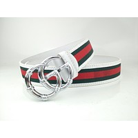 Gucci's popular G letter buckle casual belt for men and women