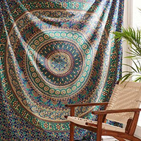 Indian Mandala Hippie Tapestry Bohemian Wall Hanging Throw Beach Wall Art College Dorm Tapestry Queen Bedspread