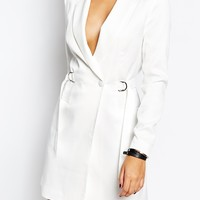 Missguided Plunge D Ring Tailored Dress