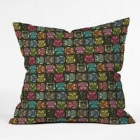 Sharon Turner Sherbet Owls Outdoor Throw Pillow