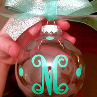 Monogram Christmas Ornament Monogrammed Christmas Ornament Monogram Christmas Decoration Monogram Christmas Gift Monogram Christmas Gifts