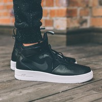 Nike Air Force 1 Ultraforce Mid 864025-002 Black For Women Men Running Sport Casual Shoes Sneakers
