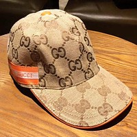 GUCCI New fashion more letter sun protection leisure cap hat Khaki