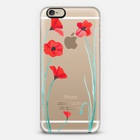 Poppy iPhone 6 case by PaperMountainCo | Casetify