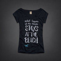 Hollister West Street T-Shirt- What Happens At The Beach