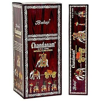 Balaji Chandanam (Sandal) Incense - 15 Gram Pack (12 Packs Per Box)