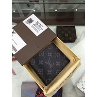 Tagre™ Louis Vuitton 1;1 MEN'S BLACK LEATHER WALLET PURSES 0 Day-First™