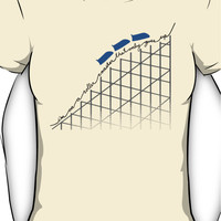 I'm on a roller coaster that only goes up (light shirts) Women's T-Shi