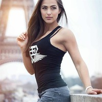 2018 Women Cotton Gyms Tank Tops Bodybuilding Fitness Sexy Tank Shirts ClothesWomens Stringer Gyms Clothing Body Engineers