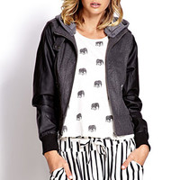 Street Chic Faux Leather Jacket