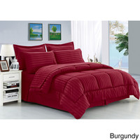 Cozy Home Down Alternative 5 Piece Embossed Comforter Set - Burgundy (King)