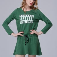 Loose  Letters Printed Dress