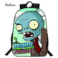 Children Schoolbag Hot Game Plants VS Zombie Print Backpack for Teenager Boys and Girls Orthopedic Cartoon Backpacks Schoolbags