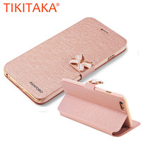 "Luxury Fashion Butterfly Built-in Card slot Silk Pattern 4.7"" Stand Flip Leather Mobile Phone Case For iPhone 5 5S SE 6 6S Plus"