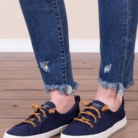 Sperry- Crest Vibe Linen In Navy
